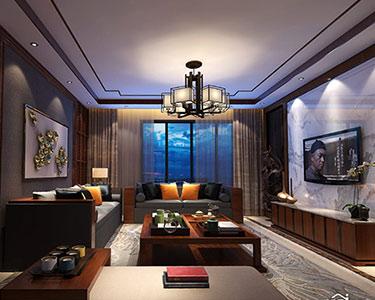 大户型 4室2厅 中式古典风格 装修效果图-「北辰新领地小区」