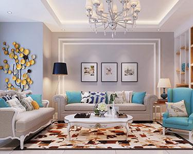 150㎡三室两厅现代轻奢风格装修效果图 -「东岸国际」