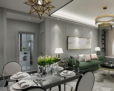 130㎡三室兩廳現代簡約 極致輕奢風格裝修效果圖 -「富力華庭」