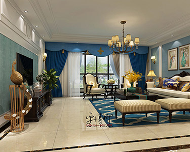 205㎡4室2厅 美式 风格装修效果图-「华茂名居」