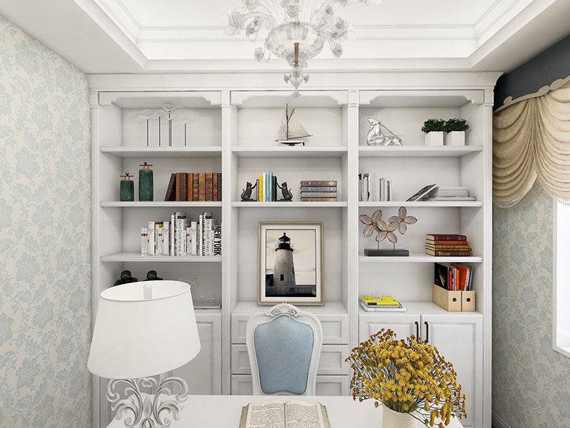 书房书柜定制效果图