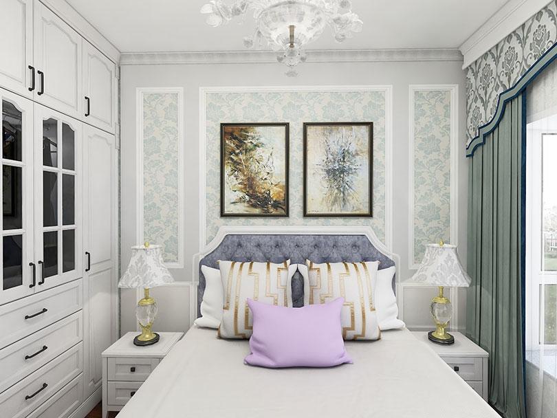 主卧衣柜、床头柜定制家具效果图