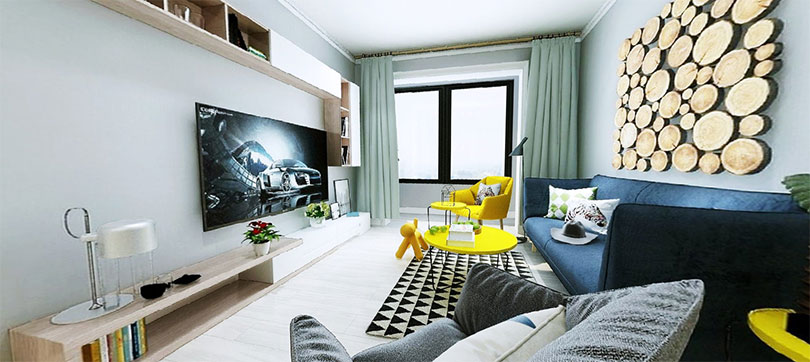永泰城客厅装修效果图,国美美窝装饰设计
