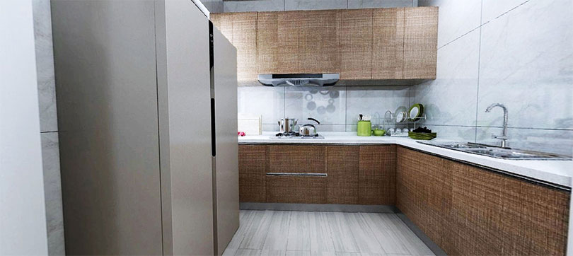 永泰城厨房装修效果图,国美美窝装饰设计