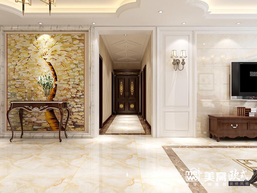 诺德国际花园大平米欧式风格入户门装修设计-包头国美美窝装饰公司效果图
