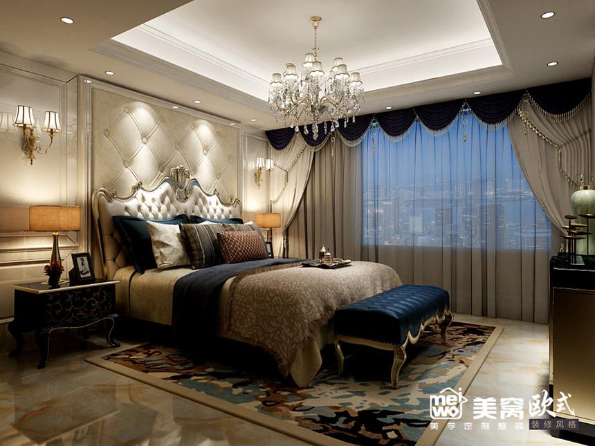诺德国际花园大平米欧式风格客厅装修设计-包头国美美窝装饰公司效果图