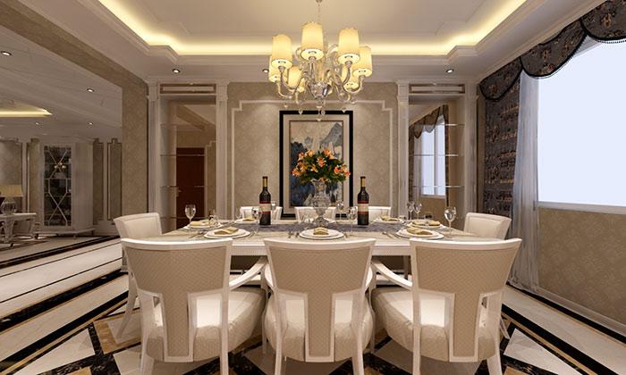 台式现代风格餐厅装修设计-国美美窝装饰装修效果图
