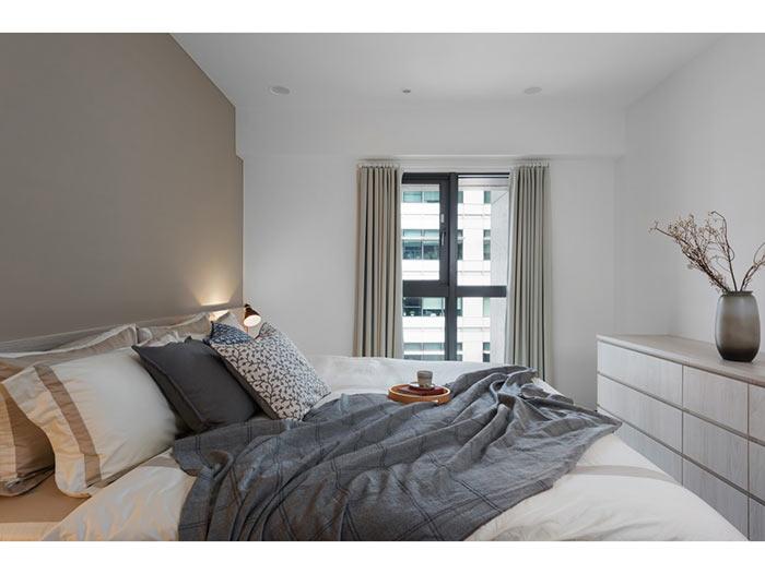 现代简约卧室-包头装修公司效果图_国美美窝装饰设计
