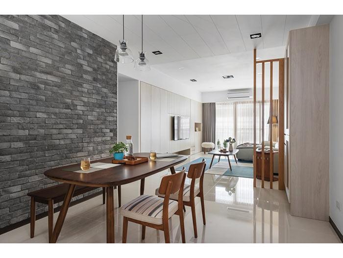 现代简约客厅+餐厅-包头装修公司效果图_国美美窝装饰设计