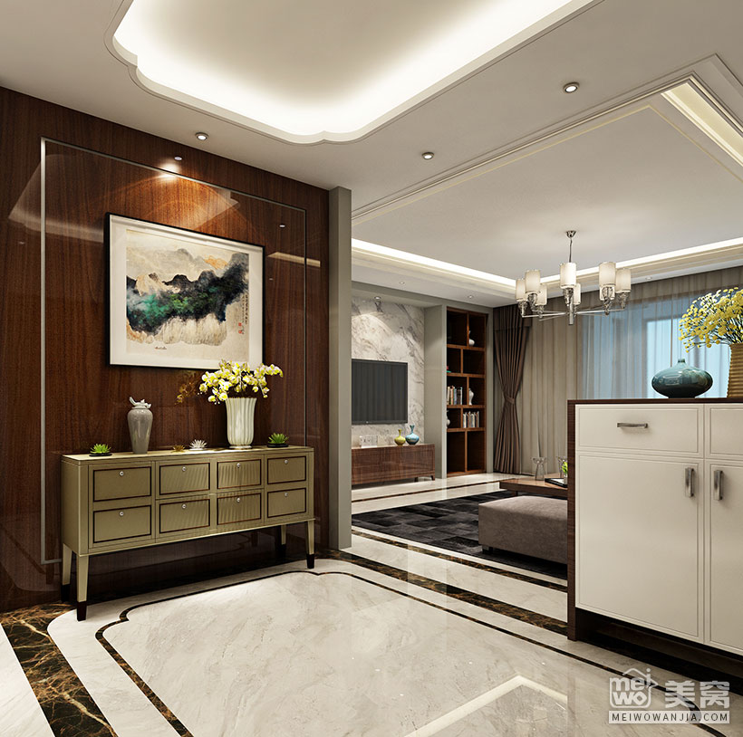 廣龍苑 205平米 現代 - 國美美窩裝修設計效果圖