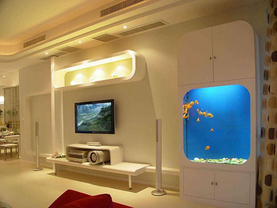 电视背景墙_现代风格效果图